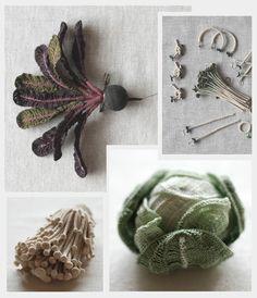 amazing crocheted vegetables...