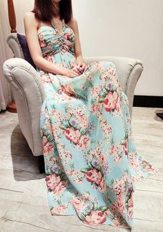 Braid Floral Maxi Dress - Lookbook Store from lookbookstore.co