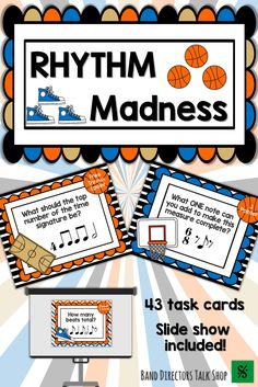 Teachers, are you looking for a fun music lesson or activity for March Madness? This Music Madness Rhythm game is for you! Students will love the basketball music game! This music game is perfect for a music sub plan! This rhythm activity would make a gre Music Theory Games, Music Education Games, Rhythm Games, Music Activities, Music Games, Fun Music, Fun Games, Music Stuff, Music Mix