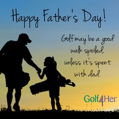 Happy Father's Day to all the daddy's out there teaching their little girls how to play golf! Fathers Day Quotes, Happy Fathers Day, Golf Driver Swing, Bad Father, For Elise, Golf Tips For Beginners, Golf Quotes, Golf Lessons, Daddys Little