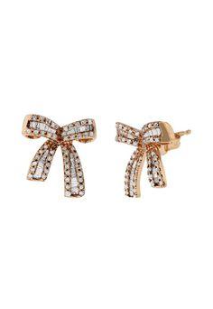 #BuyMoreSaveMore with Effy Jewelry #NewArrivals  14K #RoseGold #Diamond Ribbon #Earrings Shop earrings > http://www.effyjewelry.com/14k-rose-gold-diamond-ribbon-earrings-52-tcw.html