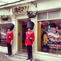 The #Liberty Guards are standing to attention outside our chocolate shop