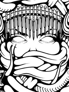 Crooks and Castles- Medusa -I like the lines, organic and flowing through the snakes bodies.
