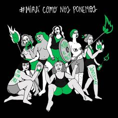#miracomonosponemos Nos abrazamos hasta que tiremos al patriarcado.  #lineapeluda @linea_peluda #nuncamássolas #muertealmacho… Social Topics, Power Girl, Powerful Women, Draw, Motivational, Wallpaper, Feminist Art, Feminism, Contemporary Printmaking