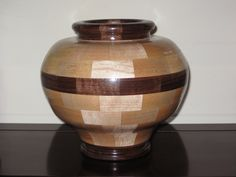 Maple and Walnut segmented bowl