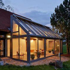 9 beautiful winter garden house extension you dream of – Wohnideen House Extension Design, Glass Extension, House Design, Extension Ideas, Design Design, Interior Design, Garden Room Extensions, House Extensions, Gazebo