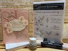 Card showcasing the new Forever Blossoms stamp set from my presentation at OnStage 2019 in Hartford, CT. Created by Joanne Mulligan, Independent Stampin' Up! Persian Beauties, Wink Of Stella, Small Flowers, Stamping Up, Flower Cards, Stampin Up Cards, Baby Shower Invitations, Cherry Blossom, I Card