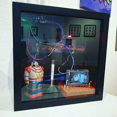Something we loved from Instagram! Atom-matic by ThePiFunk features RPi  Arduino Uno some retro fun and a looping public domain video on Atomic energy from the 1950's. On display at Kanon in Denver.  #thepifunk #throwback #retro #raspberrypi #arduino #stem #art #tech #tomfunk by thepifunk Check us out http://bit.ly/1KyLetq