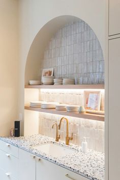 Home Decor Minimalist xx.Home Decor Minimalist xx Home Interior, Interior Design Kitchen, Kitchen Decor, Kitchen Nook, Kitchen Built Ins, Chef Kitchen, Eclectic Kitchen, Apartment Kitchen, Kitchen Shelves