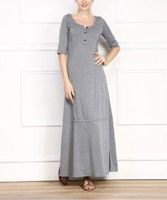 Look at this #zulilyfind! Gray Button-Up Maxi Dress by Miss Maxi, $30 !!  #zulilyfinds
