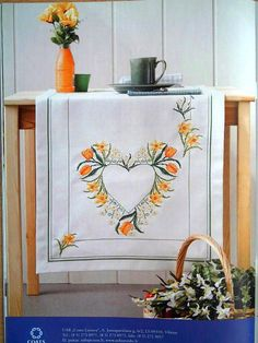 Gallery.ru / Фото #105 - 2 - irisha-ira Cross Stitch Heart, Counted Cross Stitch Patterns, Easter Tablecloth, Stitch 2, Cross Stitching, Needlework, Decorative Boxes, Tapestry, Embroidery