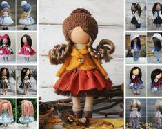 Fabric doll Interior doll Rag doll Art doll por AnnKirillartPlace