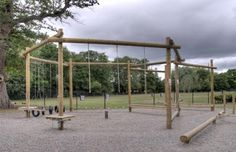 JCA low ropes are less than a metre off the ground and are made up of a combination of obstacles and challenges for the group. Outdoor Activity Centres, Outdoor Activities, Natural Playground, Backyard Playground, Outdoor Gym, Outdoor Workouts, Parkour Gym, Backyard Obstacle Course, Kids Yard