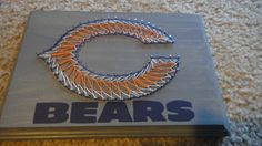 Chicago Bears - Wooden String Art Wall Decoration