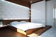 white bedroom modern design wooden flooring