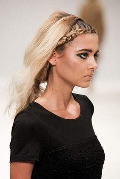 #Rohmir AW13 catwalk hair from #LFW - braided fringe hairstyle created by #RichardMannah and the #ToniAndGuy Session Team