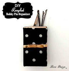 How to recycle an empty tic tac pack into a posh bobby pin storage container.