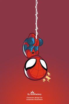 Spiderman carto on Amazing Spiderman, Spiderman Bebe, Chibi Spiderman, Spiderman Tattoo, Spiderman Drawing, Chibi Marvel, Avengers Cartoon, Marvel Cartoons, Baby Avengers