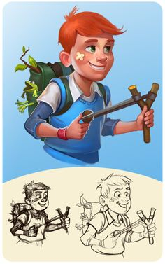 Some more characters and objects for Township Freemium on Behance