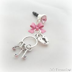 Key to your heart iPhone dust plug charm smartphone by celdeconail, $12.95