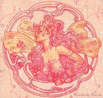 Art Nouveau Flower Fairy by enchantedgal on DeviantArt Art Nouveau Illustration, Art Nouveau Flowers, Artist Trading Cards, Fairy Art, Love Art, Art Images, Fantasy Art, Original Artwork, Fairies