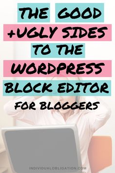 Learn how using the WordPress Gutenberg block editor is different from the older editor when it comes to writing blog posts plus blogging tips, tricks and hacks you can use on your WordPress blog content. This WordPress tutorial for beginner bloggers will help you get an idea of whether WordPress blocks are for you. Click here to see these WordPress tips. #BloggingForBeginners #BlogPost #WordPressTips #BlogTips #BlogWriting #WordPressBlockEditor #BloggerTips #BloggingTips