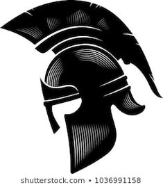 Portfólio de draco77vector no Shutterstock Warrior Helmet, Spartan Helmet, Spartan Warrior, Spartan Tattoo, Shark Art, Warrior Tattoos, Greek Art, Roman Empire, I Tattoo