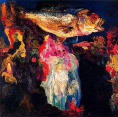 Hermen Anglada-Camarasa - Bottom of the Sea (Private Collection) Spanish Painters, Spanish Artists, Matisse, Impressionist Art, Vintage Artwork, True Art, Gustav Klimt, Global Art, Artist Art