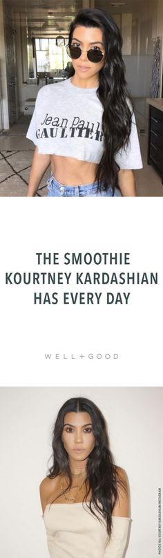Kourtney Kardashian's favorite smoothie recipe.