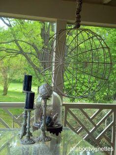 Garden orb as a hanging pendant