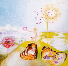 """Mette Svarre libretto & illustrations: Goldwing in love with Silver-harebell. From """"Metamorphosis of the Mermaid"""""""