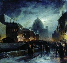 Illumination in St. Petersburg    1869    Fyodor Vasilyev