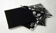 Black & White Quilted Tri-Fold Wallet via Etsy