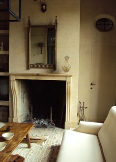 Neo Gothic Mirror, Antique French Mantlepiece, Earth Tone patina paint...