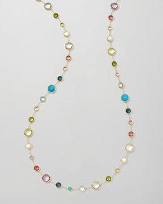 "Y1R9Z Ippolita 18k Gold Rock Candy Lollitini Necklace in Multi, 36"""