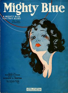 """Mighty Blue"" sheet music, fox trot"
