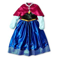 Pin for Later: 200+ Adorable Halloween Costumes For Your Trick-or-Treating Tot Disney Frozen Anna Costume Dress With Cape For the complete Anna look, the deluxe Anna Costume Dress With Cape ($79) looks like it walked right off the screen.