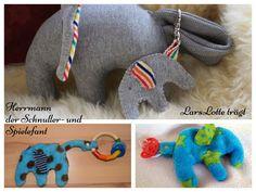 Schnullerkette Elefant