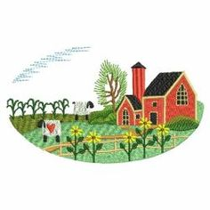 Country Scenery 06(Lg) machine embroidery designs
