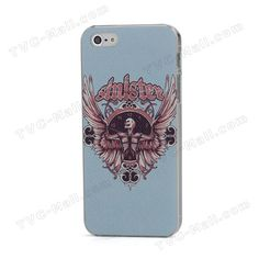 Skeleton with Wings Relief Embossing Textured Gurad Hard Case for iPhone 5 5s