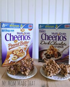 Chocolate Peanut Butter Cheerios Treats: Two Ways - My Mom Made That Cheerio Treats, Cereal Treats, Chocolate Peanuts, Chocolate Peanut Butter, Multigrain, Cocoa, Breakfast, Breakfast Cafe