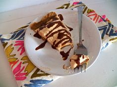 No Bake Peanut Butter Yogurt Pie -- Use 1/2 of a ripe banana to thicken the pie filling and add nutrients!