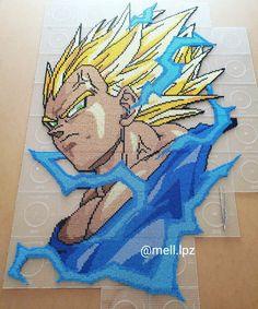 Dragon Ball Z, Dbz, Mini Iron, Anime Pixel Art, Perler Bead Templates, Peler Beads, Electric Daisy Carnival, Minecraft Pixel Art, Iron Beads