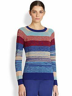 St. John Wool Mixed Stripe Sweater