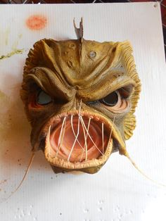 Halloween Masks Alien/swamp creature/scary. $55.00, via Etsy. Swamp Creature, Halloween Masks, Voodoo, Scary, Creatures, Dolls, Trending Outfits, Unique Jewelry, Handmade Gifts