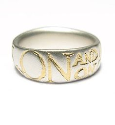 Diana Porter 'and on' silver ring