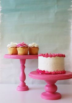 diy candlestick cake stand