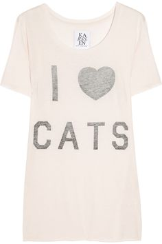 ZOE KARSSEN  I Heart Cats cotton and modal-blend T-shirt.....I should probably own this
