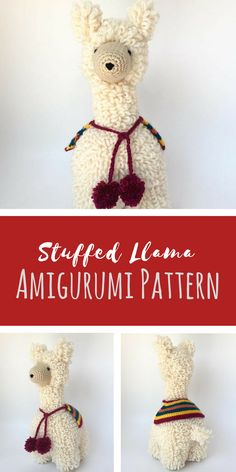 This stuffed llama looks so cuddly! It would be such a fun amigurumi crochet pattern to pull this together.  I would have loved this as a gift for the baby shower fiesta I went to! #amigurumitoy #amigurumi #crochetpattern #ad