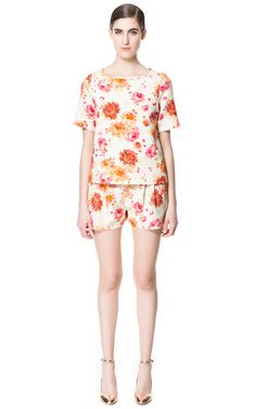 FLOWER PRINT SHORTS from Zara  - $79.90